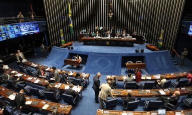 Sessão do Senado Federal em setembro Foto: Arquivo / 08/09/2016 / Ailton de Freitas / Agência O Globo
