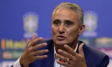 Tite convocou a seleção apenas com jogadores que atuam em clubes brasileiros Foto: REUTERS/Ueslei Marcelino