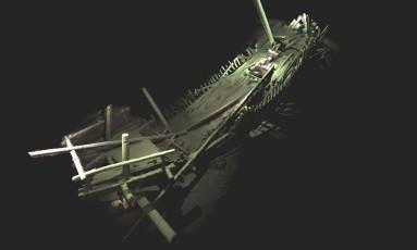 Destroços de uma embarcação do período medieval Foto: Rodrigo Pacheco-Ruiz