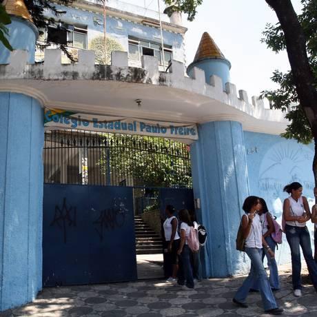 Colégio Estadual Paulo Freire estaria sem cozinha nas instalações Foto: Lucíola Villela / Lucíola Villela