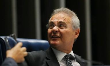 O presidente do Senado, Renan Calheiros (PMDB-AL) Foto: Ailton Freitas / Agência O Globo