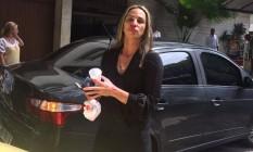 Luciana diz ter sido agredida por taxista Foto: Reprodução Facebook