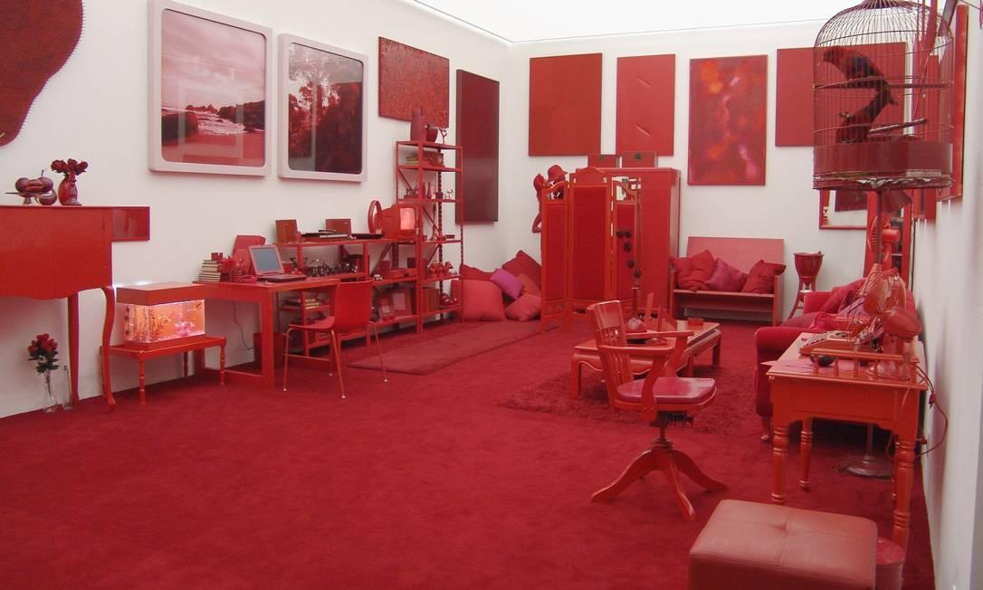 """""""Desvio para o vermelho"""" no Instituto Inhotim (MG): objetos começam a ser recebidos nesta segunda-feira na EAV Parque Lage Foto: Divulgação"""