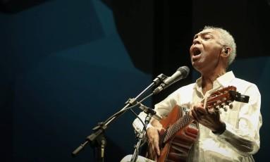 Gilberto Gil em show em Brasília no início de outubro Foto: Agência O Globo / André Coelho