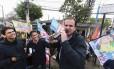 o prefeito do Rio Eduardo Paes durante ato de campanha de seu candidato Pedro Paulo, derrotado no primeiro turno