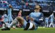 David Silva lamenta chance desperdiçada pelo Manchester City no empate com o Southampton Foto: Craig Brough / REUTERS