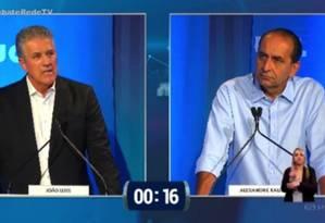 Debate do segundo turno em Belo Horizonte promovido pela RedeTV Foto: Reprodução