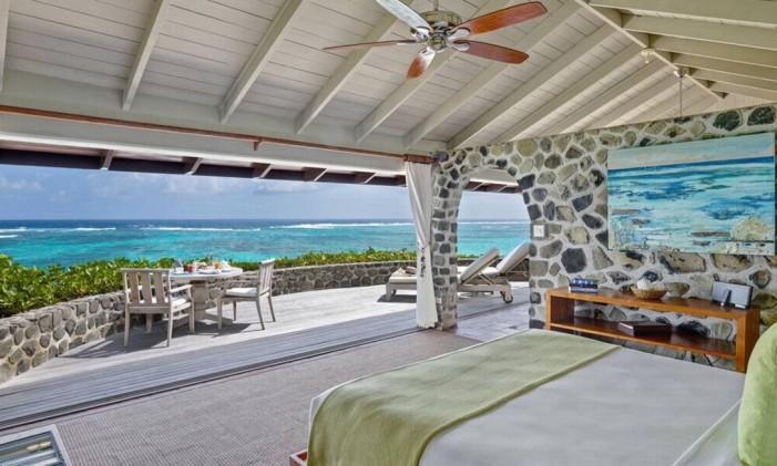 Quarto do Petit St. Vincent Resort, em Granadinas Foto: Petit St. Vincent Resort / Reprodução