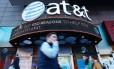Loja da AT&T em Nova York Foto: KENA BETANCUR / AFP