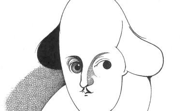 Caricatura de Shakespeare por Loredano Foto: Loredano