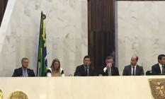 Juiz federal Sergio Moro participa de evento sobre combate à corrupção na Assembleia Legislativa do Paraná Foto: Thaís Skodowski/Agência O Globo