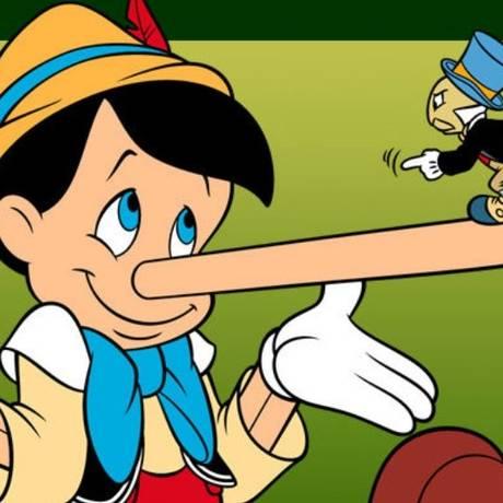 Nas fábulas infantis, o personagem Pinóquio contava cada vez mais mentiras, mesmo com o seu nariz crescendo Foto: REPRODUÇÃO/Disney