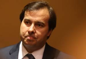 Rodrigo Maia participa de almoço-debate com empresários na capital paulista Foto: Pedro Kirilos/Agência O Globo