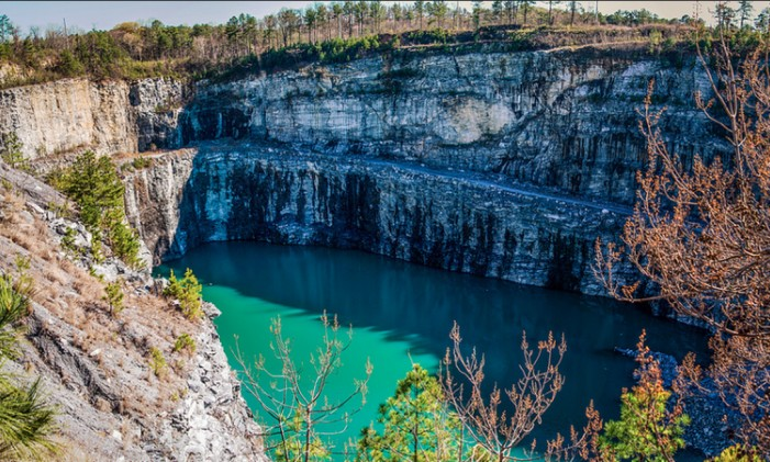 A Bellwood, pedreira onde foi filmada a série Foto: Divulgação/Bellwood Quarry