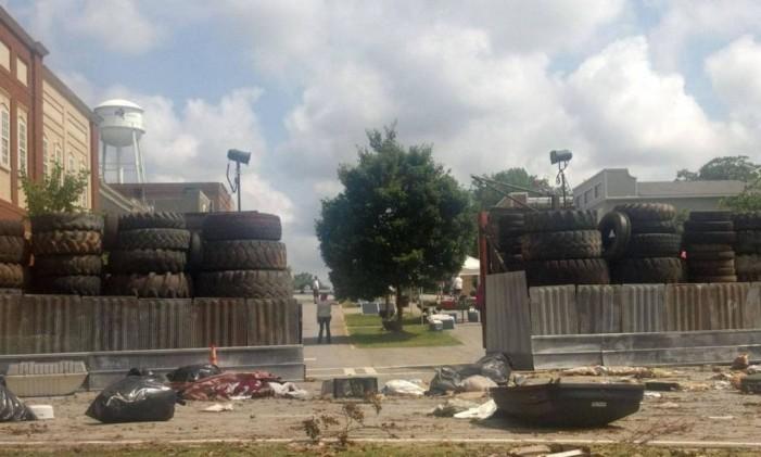 Cidade de Woodbury na série Foto: AMC/Reprodução