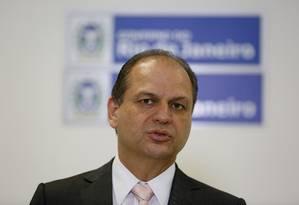 O ministro da saúde Ricardo Barros em evento do Palácio da Guanabara Foto: Pablo Jacob / Agência O Globo