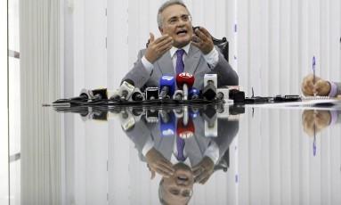 Renan disse que Senado realiza varreduras desde 2003 Foto: Givaldo Barbosa / Agência O Globo