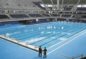 Mudanças. Estádio Aquático Olímpico, que será desmontado pela prefeitura Foto: Gabriel de Paiva/8-4-2016