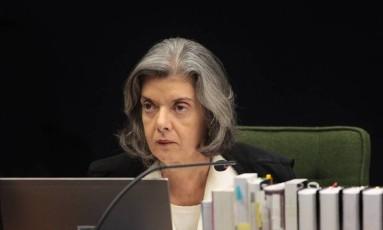 A ministra Cármen Lúcia, presidente do Supremo Tribunal Federal (STF) e do Conselho Nacional de Justiça (CNJ) Foto: STF