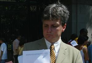 Advogado Carlos Henrique Jund em 24.01.2006 Foto: Hipólito Pereira / Agência O Globo