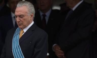 O presidente Michel Temer: convocada reunião com representantes dos três Poderes Foto: André Coelho / Agência O Globo / 21-10-2016
