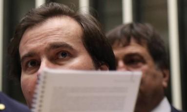 O deputado Rodrigo Maia (DEM-RJ), presidente da Câmara Foto: Ailton de Freitas / Agência O Globo
