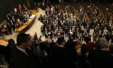 Câmara dos Deputados durante votação da PEC 241 Foto: Ailton de Freitas / Agência O Globo