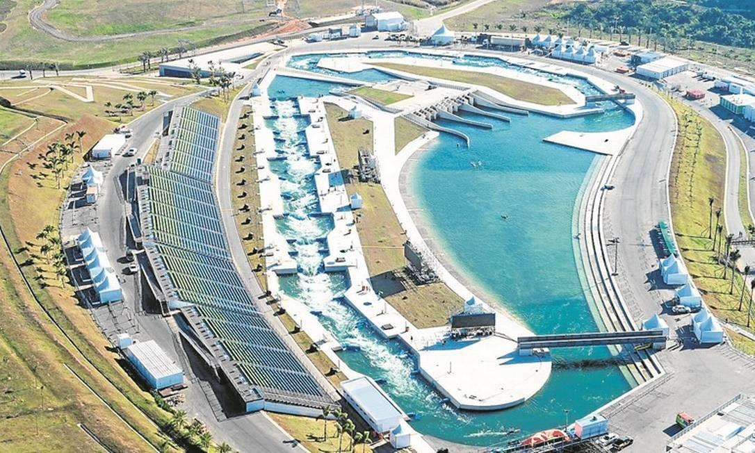 Arena olímpica. Parque Radical, em Deodoro: prefeitura investiu R$ 66,6 milhões em infraestrutura e R$ 17 milhões na colocação de arquibancadas Foto: AFP/YASUYOSHI CHIBA/26-7-2016