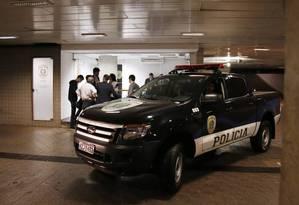 Agentes da Polícia Federal durante a operação Métis, que prendeu policiais do Senado Foto: Jorge William / 22-10-2016