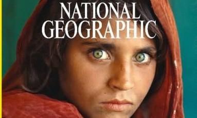"""Sharbat Gula foi capa da revista """"National Geographic"""" em 1985 Foto: Reprodução"""