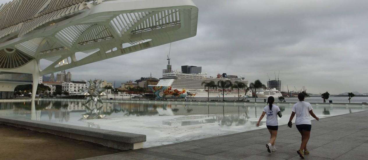 Tempo na cidade permancerá nublado nos próximos dias Foto: Pedro Teixeira / Agência O Globo
