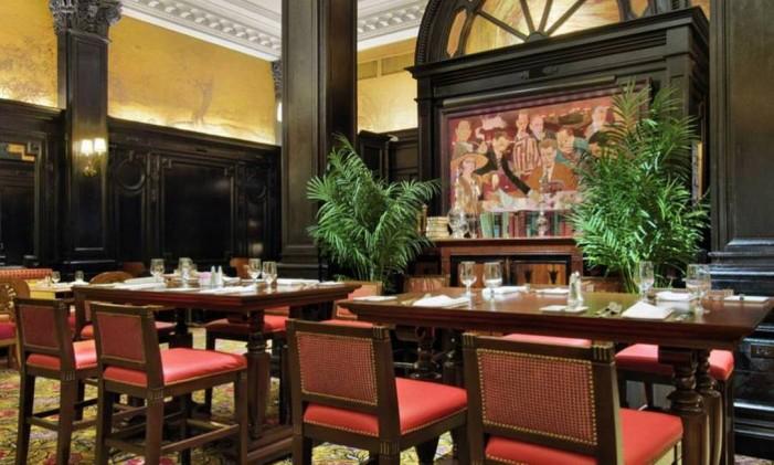Round Table Restaurant, no Algonquin Hotel, em Nova York Foto: Algonquin Hotel / NYC & Company / Divulgação