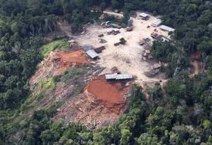 Desmate perto de Santarém, no Pará Foto: Otávio Almeida / Greenpeace