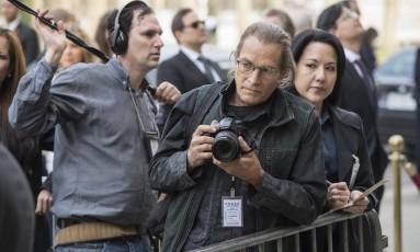 Michael Massee como um fotógrafo na série 'The blacklist', em 2013 Foto: Divulgação/David Giesbrecht/NBC