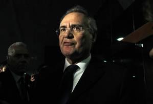 O presidente do Senado, Renan Calheiros (PMDB-AL) Foto: Givaldo Barbosa / Agência O Globo / 25-10-2016