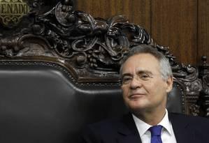 O presidente do Senado, Renan Calheiros (PMDB-AL) Foto: Givaldo Barbosa / Agência O Globo / 26-10-2016