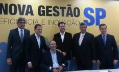 Os cinco primeiros secretários municipais anunciados pelo prefeito eleito de São Paulo Foto: Silvia Amorim/Agência O Globo
