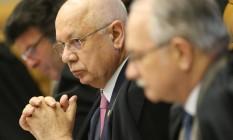 O ministro Teori Zavascki durante a sessão no Supremo Tribunal Federal Foto: Andre Coelho / Agência O Globo / 27-10-2016