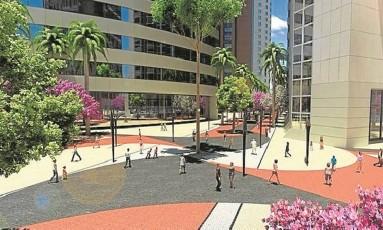 Paisagismo. Parque na Zona Portuária terá espécies de Mata Atlântica e mobiliário urbano escolhido em concurso Foto: Divulgação