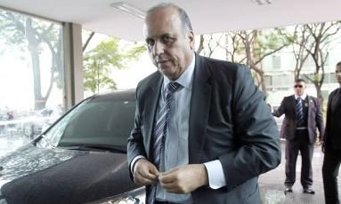 O governador licenciado Luiz Fernando Pezão Foto: Givaldo Barbosa / 27-10-2016 / Agência O Globo