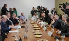 Autoridades dos três Poderes participam da reunião sobre segurença Foto: Carlos Humberto/SCO/STF