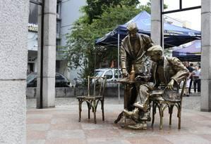 Estátua foi restaurada dez meses depois de depredação por vândalos Foto: Daniel Coelho / Divulgação