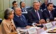 Carmen Lucia, Michel Temer, Renan Calheiros e Rodrigo Maia participam de reunião sobre segurança pública