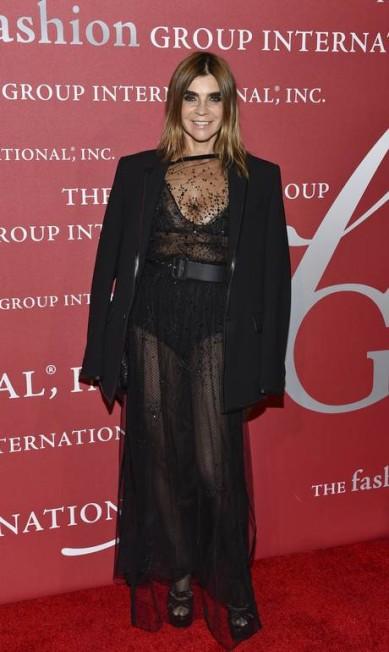 A editora de moda Carine Roitfeld Evan Agostini / Evan Agostini/Invision/AP
