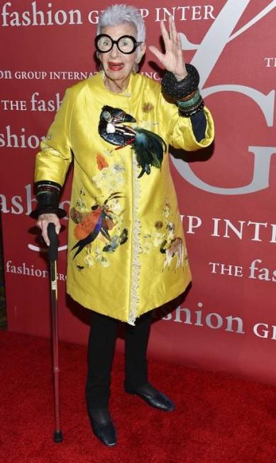 Uma das homenageadas, o ícone fashion Iris Apfel Evan Agostini / Evan Agostini/Invision/AP