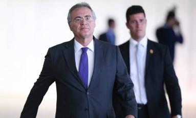 Após encontro, Renan diz que Cármen Lúcia é 'exemplo de caráter' Foto: André Coelho / Agência O Globo