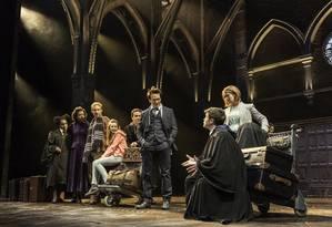 Cena da peça 'Harry Potter e a criança amaldiçoada' Foto: Manuel Harlan / Divulgação