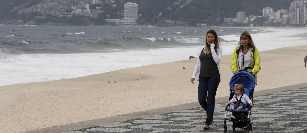 A sexta-feira foi de tempo nublado e vento forte no Rio de Janeiro Foto: Agência O Globo