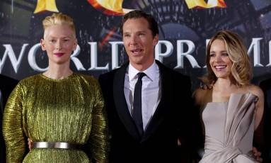 Tilda Swinton, Benedict Cumberbatch e Rachel McAdams na première de 'Doutor Estranho', em Hollywood Foto: MARIO ANZUONI / REUTERS