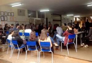 Estudantes em escola ocupada no Paraná Foto: Reprodução da internet Ocupa Paraná/12-10-2016